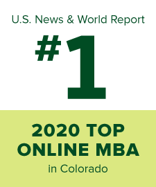 U.S. News and World Report number one Best Online MBA for 2020 in Colorado
